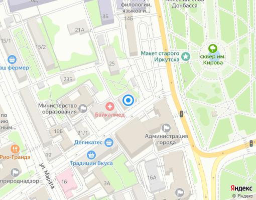 Товарищество собственников жилья «Железнодорожник» на карте Иркутска