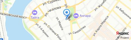 Иркутский областной совет женщин на карте Иркутска