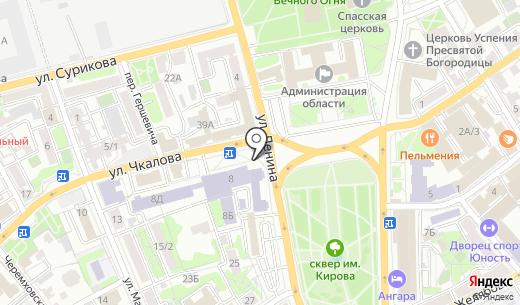 Радио-Город. Схема проезда в Иркутске