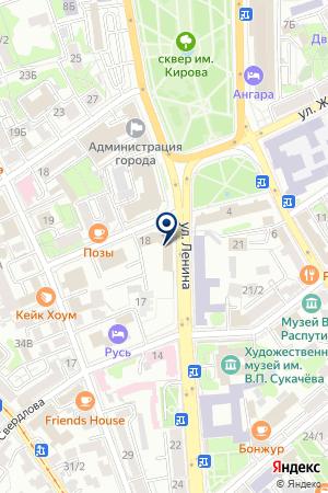 БАНК КЛАССИК-БАНК на карте Иркутска