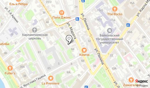 Аверина. Схема проезда в Иркутске