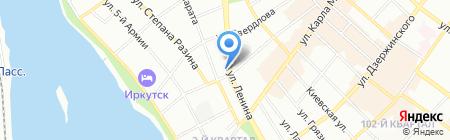 Пели-Мени на карте Иркутска