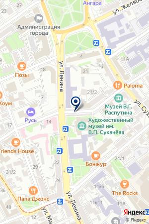 АЗС ХАХАЕВА С.В. на карте Иркутска