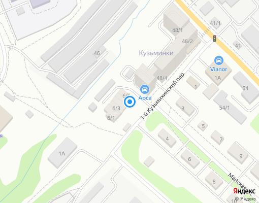 Товарищество собственников жилья «Майские дома» на карте Иркутска