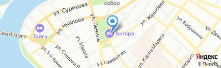Банкомат Юниаструм Банк на карте Иркутска