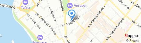 Лавли-тур на карте Иркутска