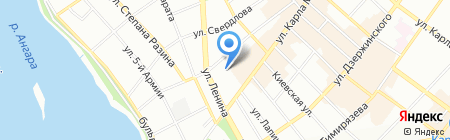 Региональный центр содействия трудоустройству и адаптации к рынку труда выпускников образовательных учреждений высшего профессионального образования на карте Иркутска