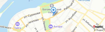 Дом детского творчества №1 на карте Иркутска
