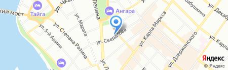 Слобода на карте Иркутска