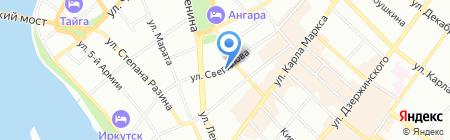 Красная Горка на карте Иркутска
