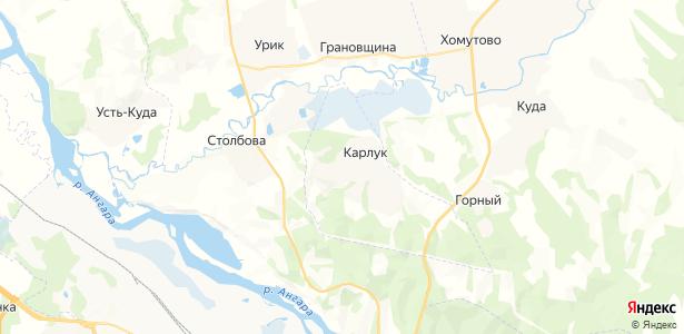 Карлук на карте