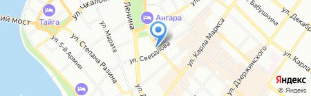 Нотариус Прядуненко Н.А. на карте Иркутска