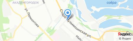 Байкал-Шина на карте Иркутска
