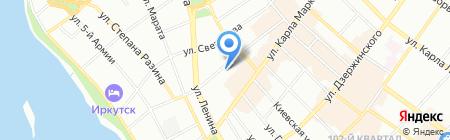 Артландия на карте Иркутска