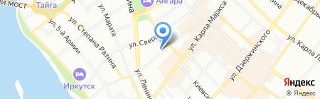Кочевник на карте Иркутска