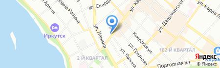 Детская поликлиника №3 на карте Иркутска