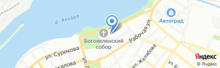 Лайм на карте Иркутска