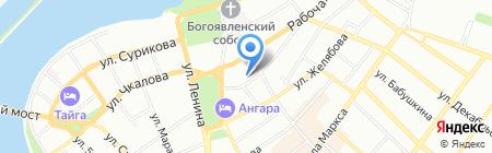 Райвл на карте Иркутска