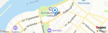 Землемер на карте Иркутска