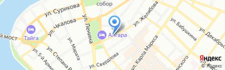 Maraton на карте Иркутска