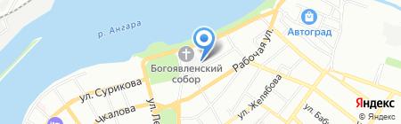 Сеть продуктовых магазинов на карте Иркутска