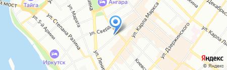 Сапфир на карте Иркутска