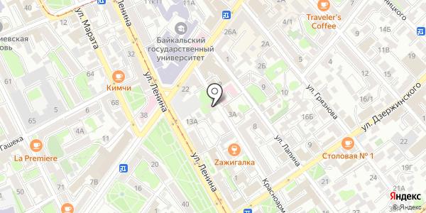 Аршан. Схема проезда в Иркутске
