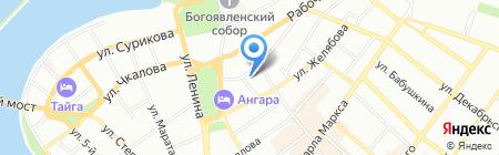 Тренинг-центр Елены Влюблённой на карте Иркутска