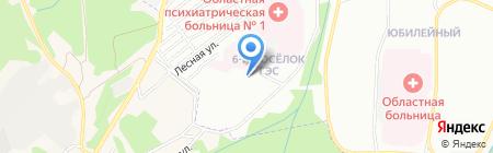 Продуктовый магазин на ул. Юбилейный на карте Иркутска