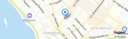 Инновационный центр на карте Иркутска