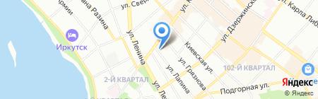 К Институт повышения квалификации на карте Иркутска