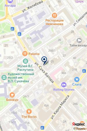 ГАЗОВАЯ АВТОЗАПРАВОЧНАЯ СТАНЦИЯ ИРКУТСКОБЛГАЗ на карте Иркутска