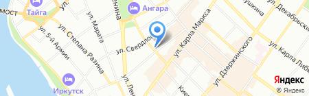 Сэйко на карте Иркутска