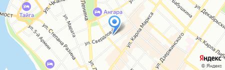 Бизнес-парк на карте Иркутска