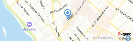 Фиделис Иркутск на карте Иркутска