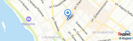 Худжанд на карте Иркутска