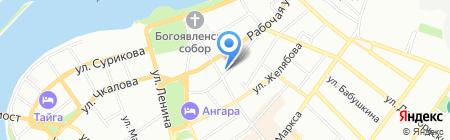 Магазин разливного пива на карте Иркутска