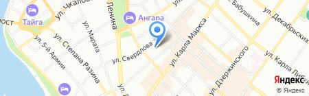 Форвард на карте Иркутска