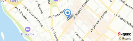 Торгово-промышленная палата Восточной Сибири на карте Иркутска