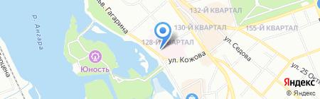 Иркутское областное бюро судебно-медицинской экспертизы на карте Иркутска