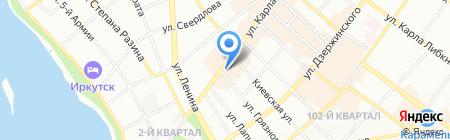 Вояж-тур на карте Иркутска