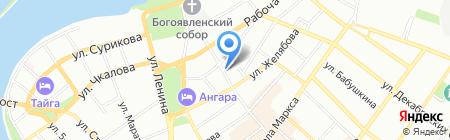 Райт на карте Иркутска