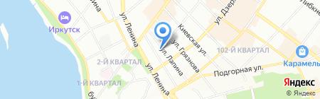 Лоза на карте Иркутска