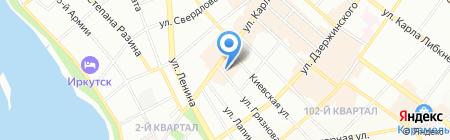 Азиатская грузовая компания на карте Иркутска