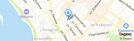 Доктор на счастье на карте Иркутска