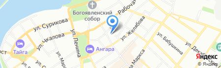Юнипринт на карте Иркутска