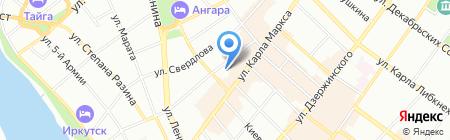 Адвокатский кабинет Гавриловой О.А. на карте Иркутска