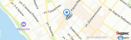 ЗАГС Иркутской области на карте Иркутска