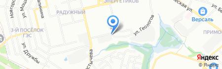 Саулитес на карте Иркутска