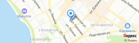 Союз композиторов на карте Иркутска